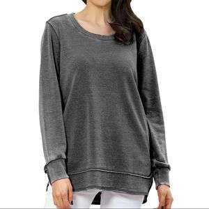 Tops - Mineral Wash gray Top